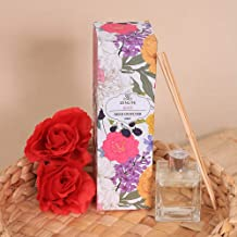Zenlife Aroma Rose Glass Reed Diffuser (60 ml, Pink)