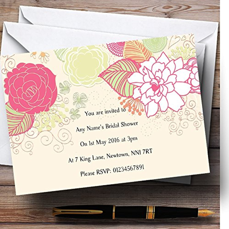 Cream Classical Personalised Bridal Shower Party Invitations   Invites & Envelopes