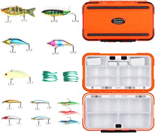 Fishing Lures kit for Saltwater Freshwater Trout Bass Fishing Lure/Fishing Lures Whopper Plopper Fishing Bait Crankbait Lures Shrimp Bait Worm Bait/Fishing Tackle