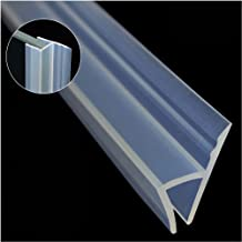 Glass Shower Door Seal Strip(No adhesive Include), Frameless Weather Stripping Seal Sweep for Door Windows, Flexible with Durable Weatherproof Silicone for 3/8