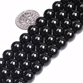 Black Tourmaline Beads for Jewelry Making Natural Gemstone Semi Precious 8mm Round 15