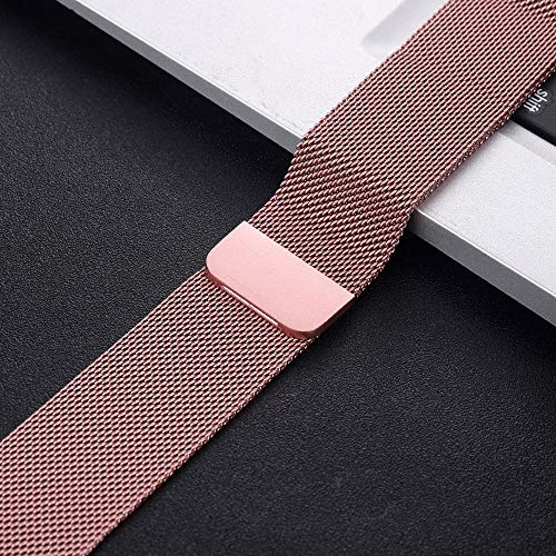 NO BRANDED Magnetic Bracelet Strap For 4 5 40mm 44mm Stainless Steel Band For Watch Band Series 1 2 3 42mm 38mm 5Pinkgold