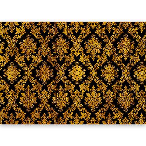 murando - Fototapete XXL Ornament 500x280 cm Vlies Tapeten Wandtapete XXL Moderne Wanddeko Design Wand Dekoration Wohnzimmer Schlafzimmer Büro Flur Barock Vintage schwarz gold f-A-0477-a-c