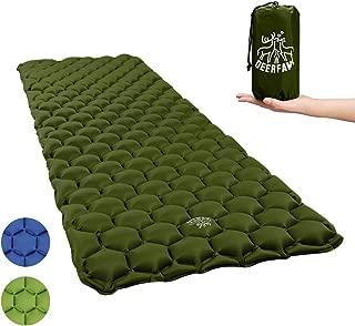 DEERFAMY Inflating Sleeping Pad, Camping Sleeping Pad Inflatable Backpacking Lightweight Compact Portable