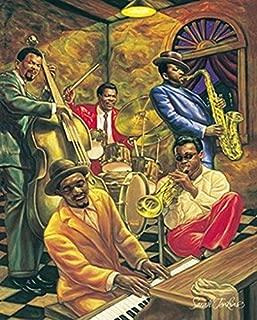 Cool Jazz by Sarah Jenkins African American Musicians Art Print Poster 24X36