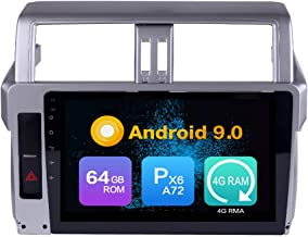 Android 10 4G Ram 64G ROM PX6 Cortex A72 Navigation Radio Steering Wheel Control IPS DSP Bluetooth WiFi for Toyota Landcru...