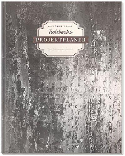 DÉKOKIND Projektplaner   DIN A4, 100+ Seiten, Register, Kontakte, Vintage Softcover   Für über 50 Projekte geeignet  Motiv: Glossy Wall