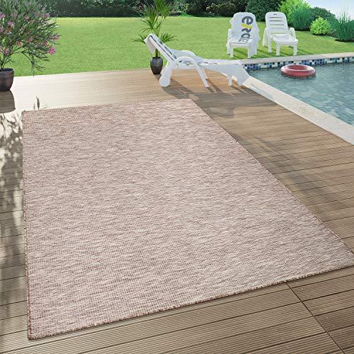 Paco Home Tapis Intérieur & Extérieur pour Salon Balcon Terrasse Tissé À Plat Beige, Dimension:60x100 cm