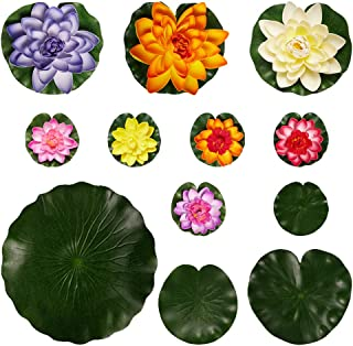 جورجيكرافت 8 قطع من الإسفنج الاصطناعي لوتس بركة النباتات العائمة للحديقة البركة نافورة أحواض السمك ديكور المنزل حديقة الزفاف