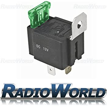 3 x 40 Amp 4 Pin Relays with holders and terminals