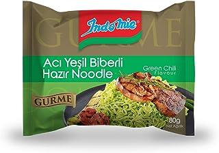 Indomie Gurme Paket Acı Yeşil Biberli, 80Gr