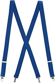 Suspender Store Mens Solid Color Suspenders - 1-Inch Wide CLIP (X-Back)