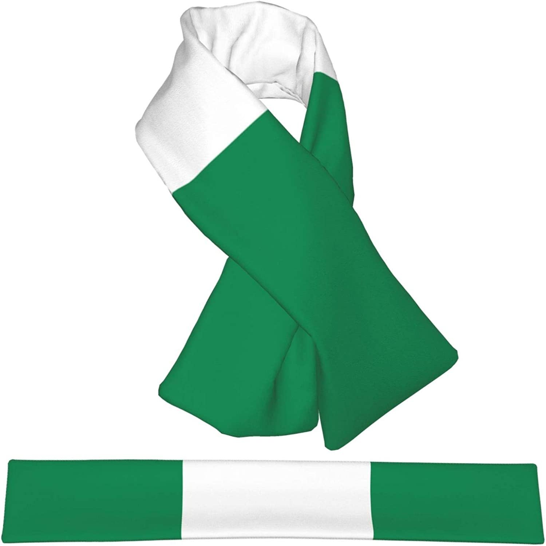 Winter Scarfs Nigeria Flag Scarves Wraps Neck Warmer Flannel Winter Cross Tie Scarves