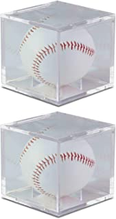 Baseball 2 Pack UV Protected Square Ball Holder Display Case by BCW