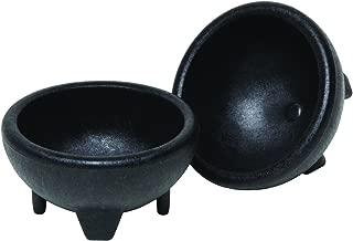 Origins Mexican Origins 120-25 Molcajete Salsa Bowls, Black, Set of 2