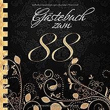Gästebuch Zum 88 Geburtstag I Edles Cover In Schwarz