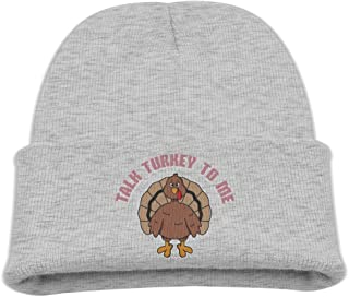 Fzjy Wnx Talk Turkey to Me Wool Skull Caps Toddler Unisex