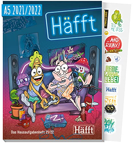 Häfft Original - Das Hausaufgabenheft 2021/2022 A5 [Gaming] ultimativer Schülerkalender, Schülerplaner   nachhaltig & klimaneutral