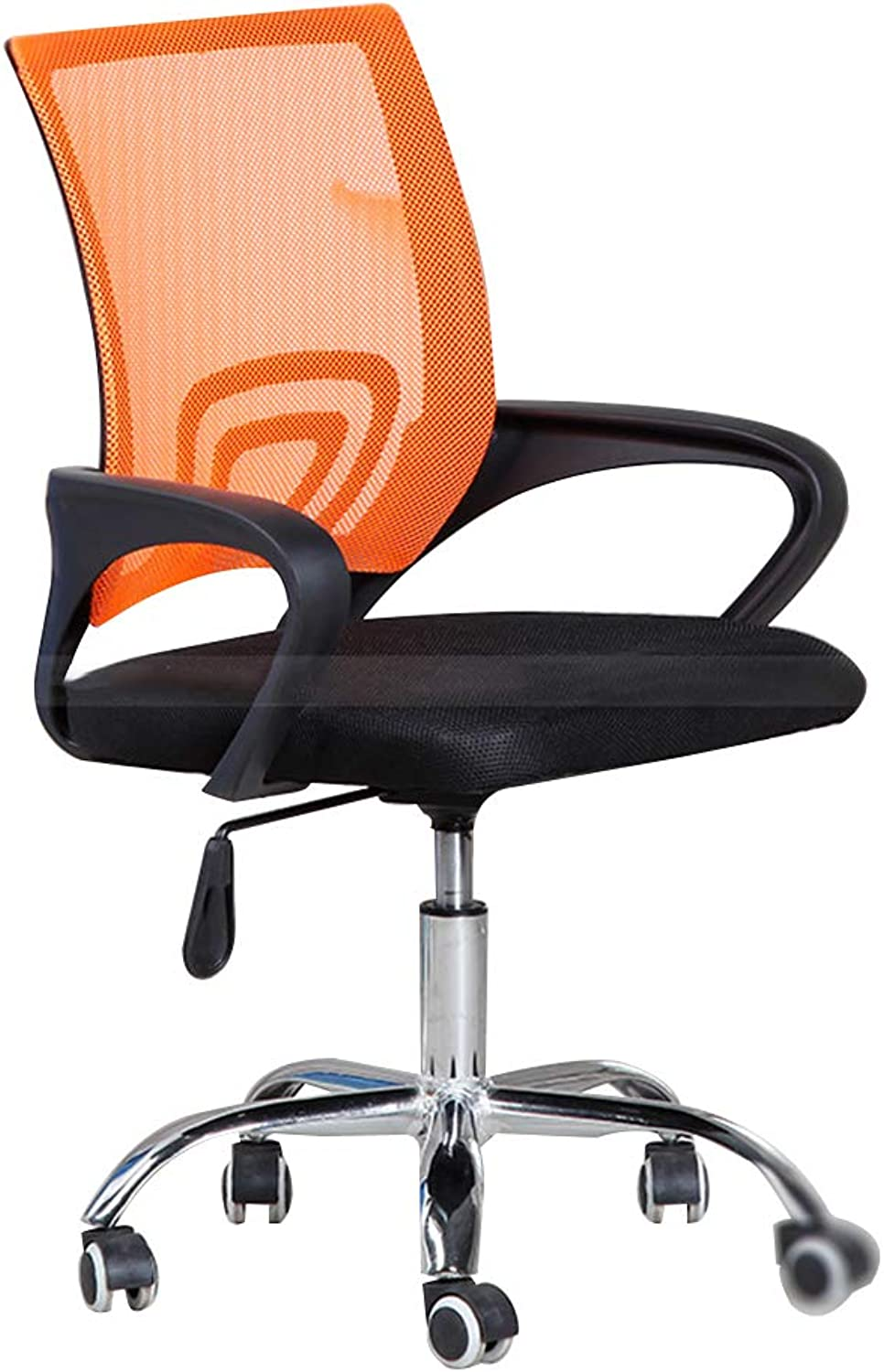 Bseack Swivel Chair Computer Chair, with Roller Swivel Chair 360° redation Conference Chair Suitable for Home Office 4 colors (color   orange)