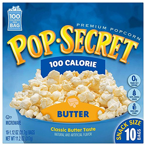 Pop Secret Microwavable Popcorn, Snack Size 100 Calorie Pop Butter, 10 Count Box (Pack of 3)