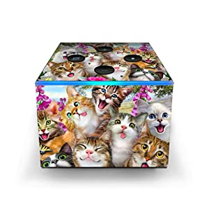 Silly Cats in Open Field - Skin Decal Vinyl Wrap for Amazon Fire TV Cube