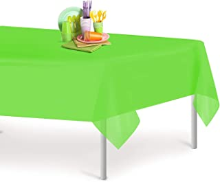 6 Pack Premium Disposable Plastic Tablecloth 54 Inch x 108 Inch.Rectangle Table Cover, Great for Buffet Table, Parties, Holiday Dinner & More,Lime Green (Lime Green)