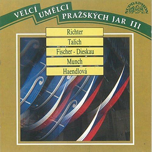 Dietrich Fischer-Dieskau, Sviatoslav Richter, Günther Weissenborn, Ida Haendel, Alfréd Holeček, Václav Talich, Charles Munch, Czech Philharmonic
