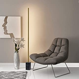 Modern LED Corner Floor Lamp, Metal Reading Standing Lamp, Marble Base, Art Lamp with Foot Switch, for Bedrooms, Living Ro...