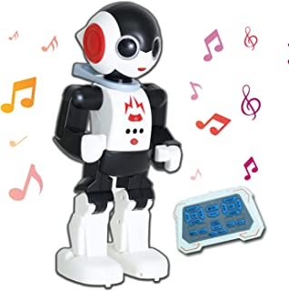 YARMOSHI Remote Control Intelligent Robot Toy - Walking, Talking, Dancing, Singing with Flashing Lights and Volume Control. USB Charging. Fun Gift for Girls and Boys Age 5+.