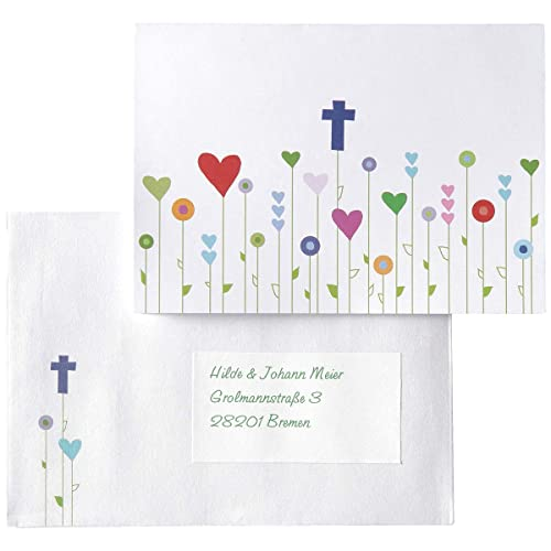 30 Platzkarten zur Kommunion Konfirmation Taufe 15 Dankeskarten 15 Einladungskarten MyPaperSet Kartenset Gottes Wiese