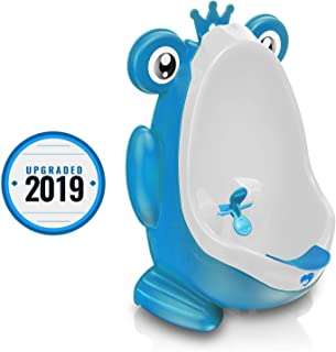 Frog Potty Training Urinal for Boys Toilet with Funny Aiming Target - Blue