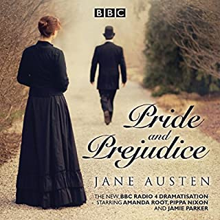 Pride and Prejudice                   By:                                                                                                                                 Jane Austen                               Narrated by:                                                                                                                                 Samantha Spiro,                                                                                        Full Cast                      Length: 2 hrs and 50 mins     220 ratings     Overall 4.6