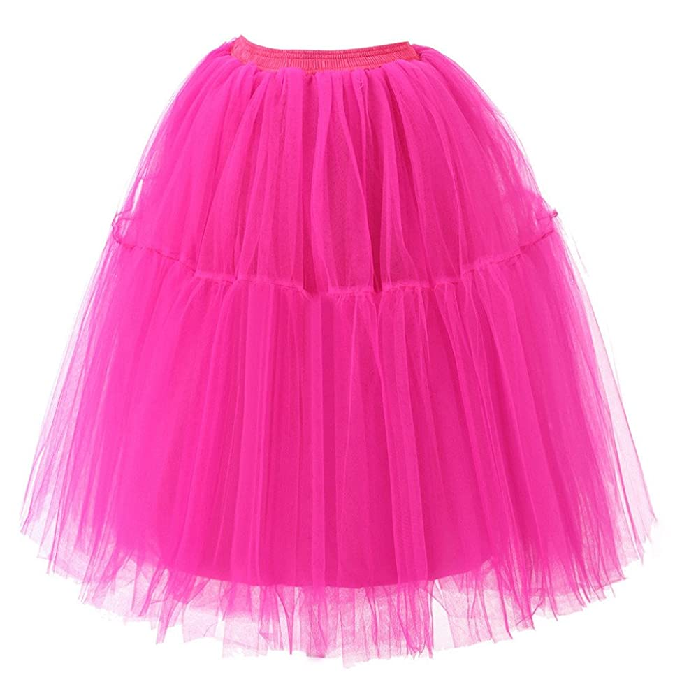 Liraly Womens Dancing Skirts Pleated Gauze Draped Adult Tutu Skirt