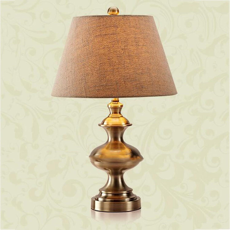 Europäische Tischlampe Luxus Retro American Village Tischlampe Tischlampe Tischlampe Nacht Bett Zimmer Arbeitszimmer Kupfer Lampe Tischlampe B07FMLL522       Großartig  bc07d6