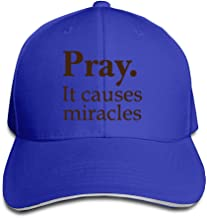 NUBIA Pray It Causes Miracles Sun Protection Cap Flex Fit Hat White