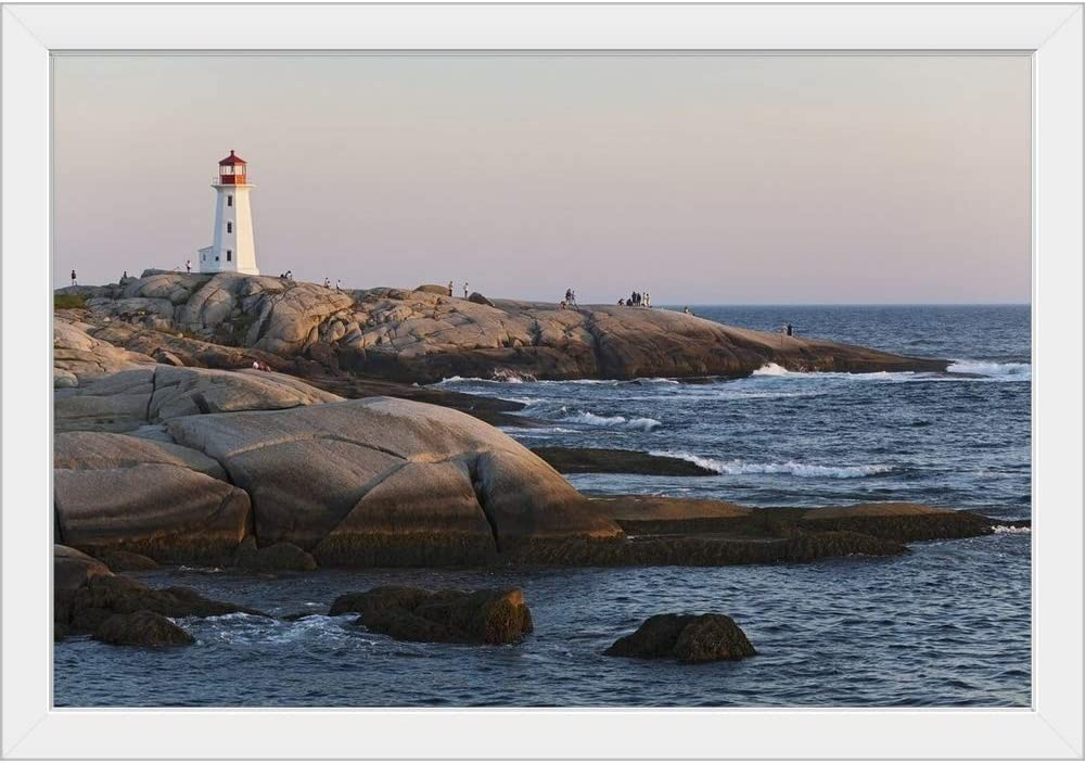 CANVAS Popular products Manufacturer direct delivery ON DEMAND Lighthouse Peggy's Cove Nova Fr White Scotia