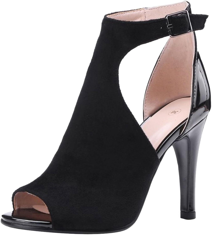 JOJONUNU Women Peep Toe Party Sandals