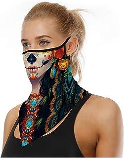 Tsyllyp Unisex Adult Face Bandana Ear Loops Balaclava Neck Gaiters Scarf