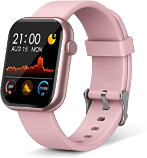 MiniDeer Smart Watch,Fitness Tracker with Heart Rate Monitor,IP67 Waterproof Fitness Watch with Pedometer,Smartwatch Compa...