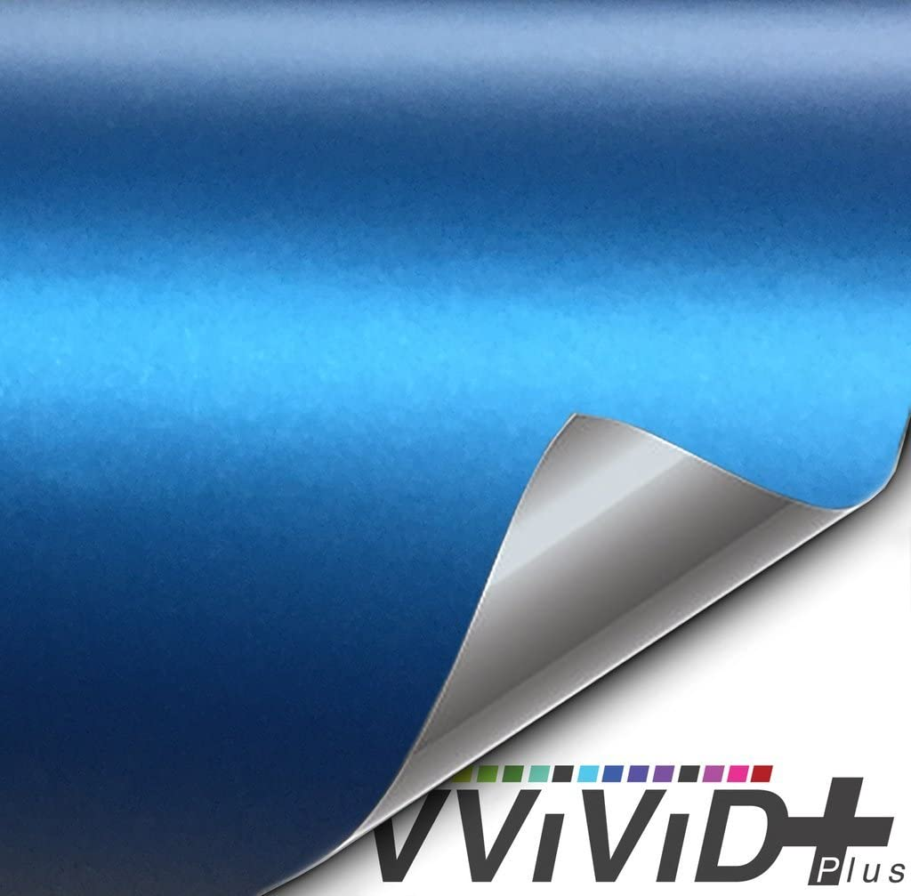 VViViD+ Matte Metallic Weekly update Blue Ghost Vinyl 1ft At the price of surprise 5ft Wrap Roll x