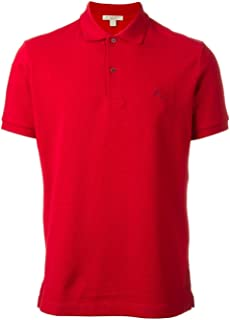 BURBERRY Luxury Fashion Mens 3956000 Red Polo Shirt |
