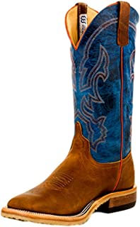 Mens Crazy Horse Leather Briar Vamp w/ 13 Danube Mad Dog Top Cowboy Boot