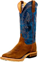 Anderson Bean Mens Crazy Horse Leather Briar Vamp w/ 13 Danube Mad Dog Top Cowboy Boot