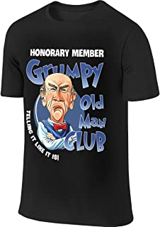 BTVE Jeff Grumpy Old Man Club - Great Gift Idea for Fan Who Love Jeff Grumpy Dunham Fashion Hiking Black T-Shirts