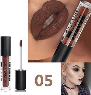 Maquillaje POR ESAILQ 12 colores mate profesional del labio del lápiz labial de Maquillaje Larga duración para niñas Largo E