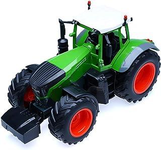 WZLJW RC camión, Tractor agrícola 2.4G Control Remoto Dump Trailer 1:16 Escala Alta de la simulación niños Vehículo de con...
