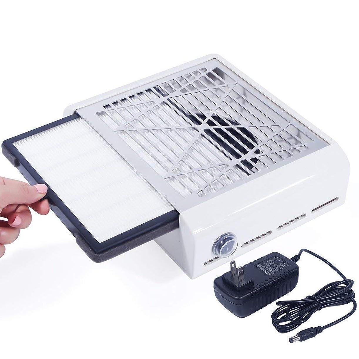 スペード教会解決するEleoption 40Wネイルダスコレクター ネイルファン ネイルダス集塵機 ネイルケア用 ネイルドライヤー プレゼント、ギフト