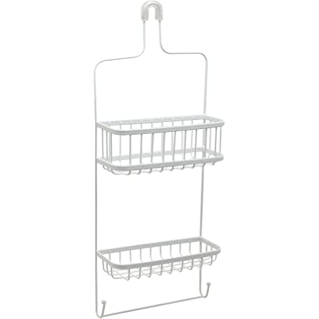 Zenna Home Over-The- Showerhead Shower Caddy, 1, White