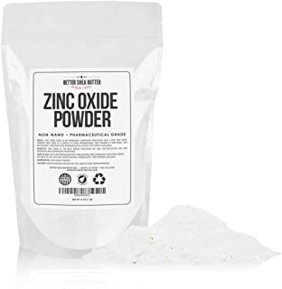 Zinc Oxide Powder 1 lb - Uncoated & Non-Nano - 100% Pure, Pharmaceutical Grade - for DIY Sunscreen, Lotion, UVA and UVB Protection - Ideal for Diaper Rash ...