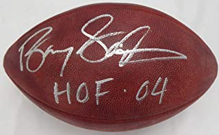 Barry Sanders Autographed NFL Leather Football Detroit Lions